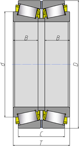 Подшипники роликовые радиально-упорные с коническими роликами двухрядные