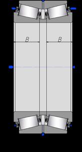 Подшипники роликовые радиально-упорные с коническими роликами двухрядные2