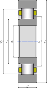 Подшипники роликовые цилиндрические однорядные 3