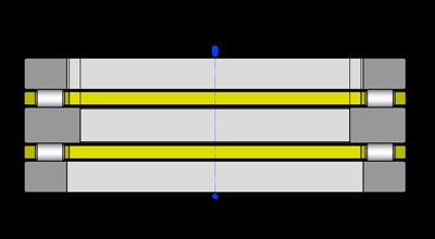 Подшипники упорные двойные с цилиндрическими роликами