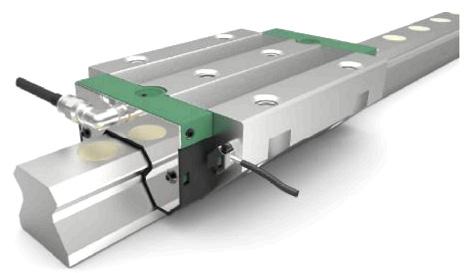 Направляющая качения с циркуляцией роликов INA в исполнении RUE-E 4.0 со встроенным датчиком ускорения