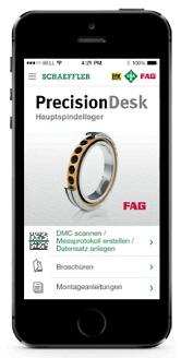 Приложение Schaeffler для прецизионных подшипников